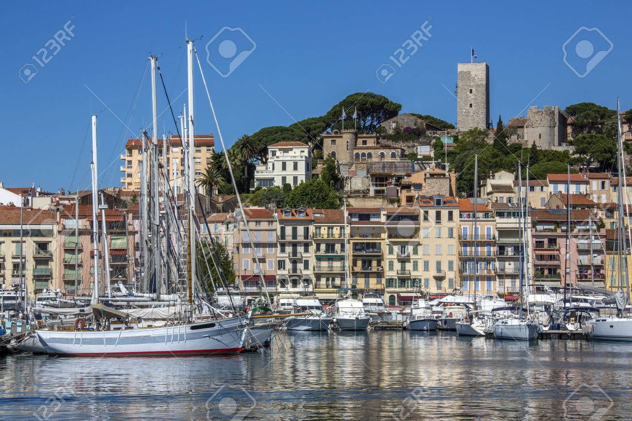 The harbor in Cannes old town on the Cote d Azure in the South of France - 22395130