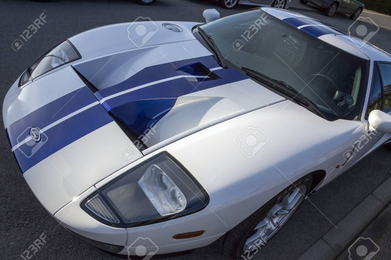 Stock Photo The Ford Gt Is A   Litre V Mid Engine Two Seater Sports Car The Gt Is Similar In Outward Appearance To The Original Ford Gt Raceing Cars