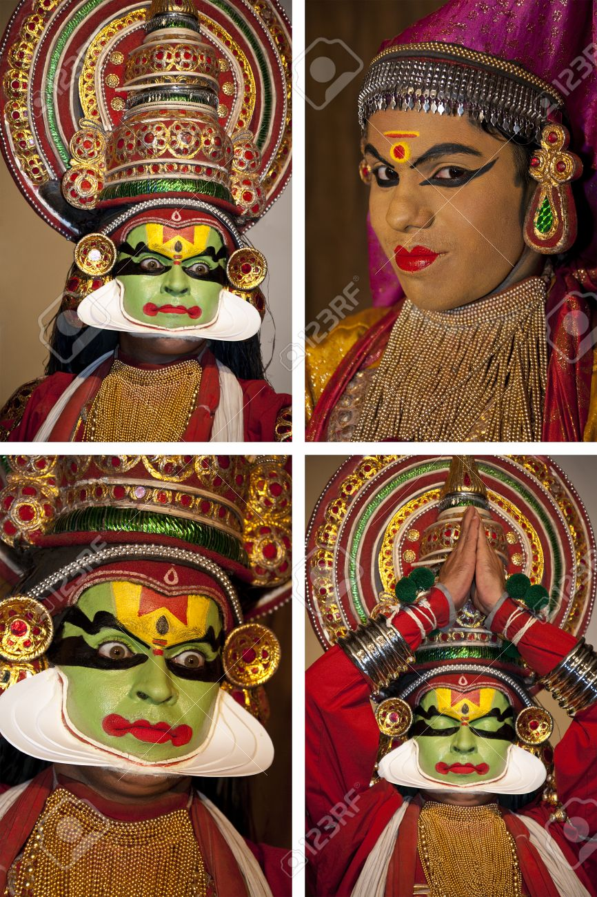 Kathakali Dancer in Cochin in the Kerala region of southern India
