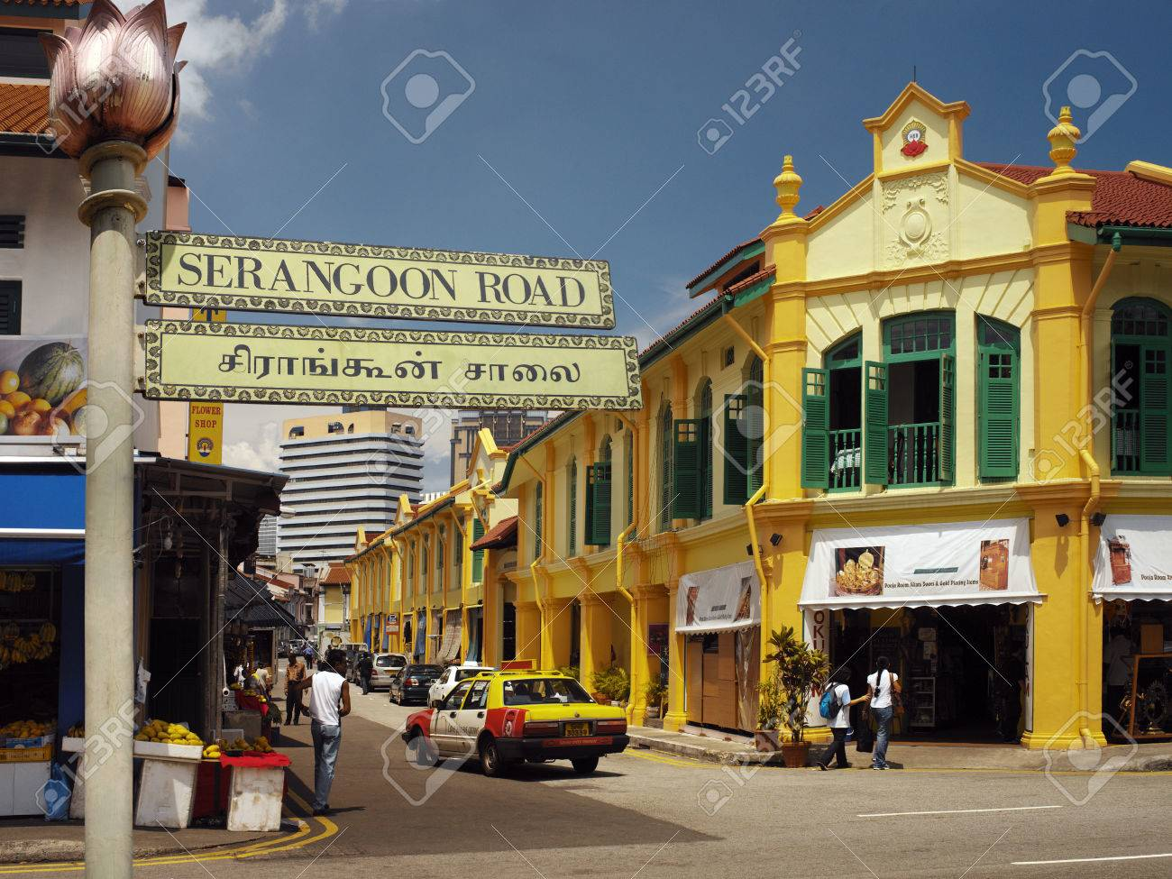 Serangoon Road area known as Little India in the city of Singapore - 22453998