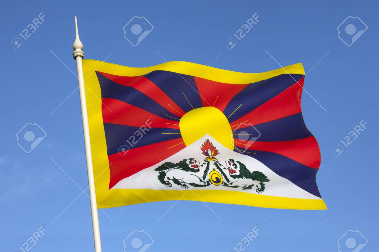 The Tibetan Flag Snow Lion Flag Was Introduced By The 13th Stock