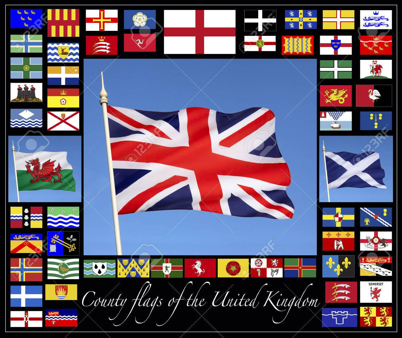 Flag gallery british county flags - County Flags Of The United Kingdom Together With The Flags Of England Scotland Wales And