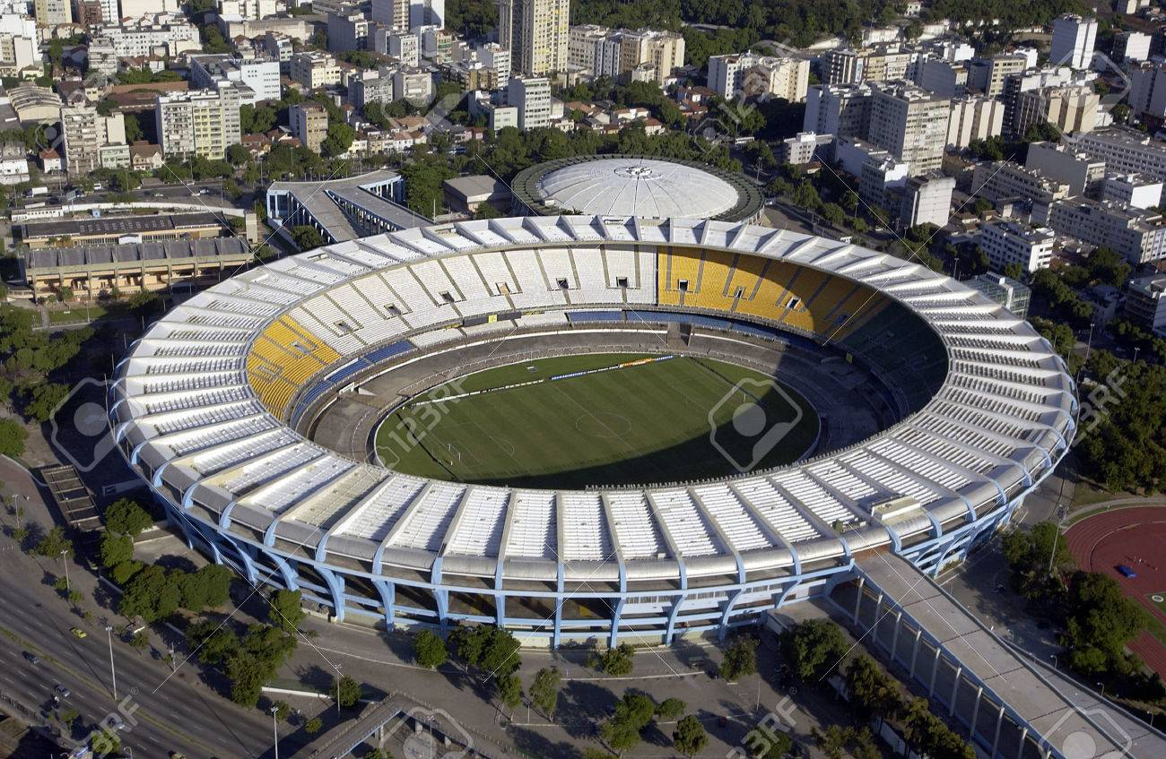Aerial view of the Estadio do Maracana or Maracana Stadium in Rio de Janeiro, Brazil Host the FIFA World Cup of 2014 - 28479422