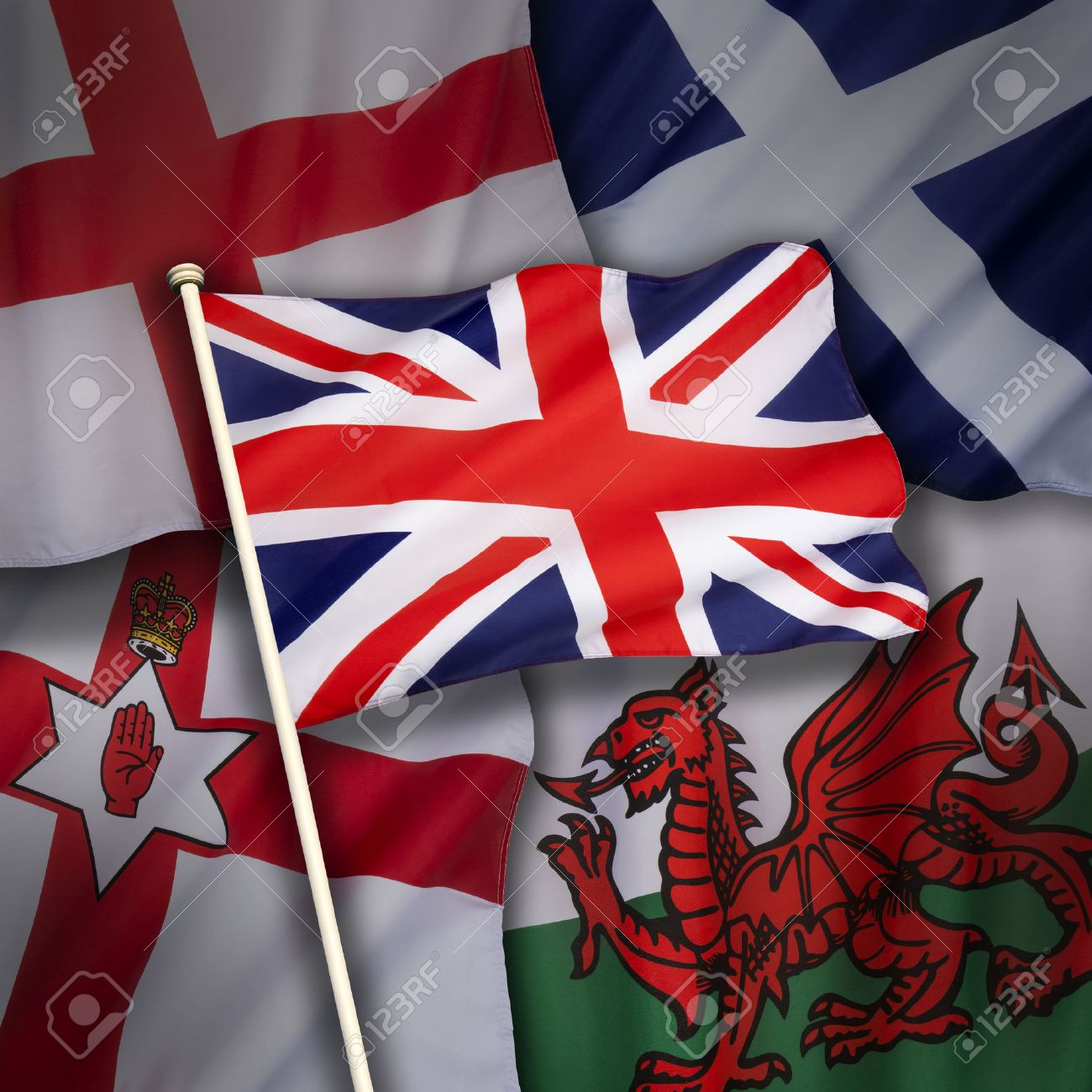 the flags of the united kingdom of great britain england