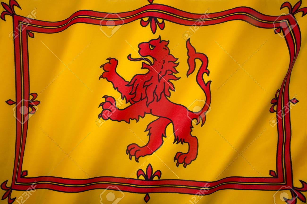 Schottland Flagge National Farben Qualitätsleder und Chrom Schlüsselring