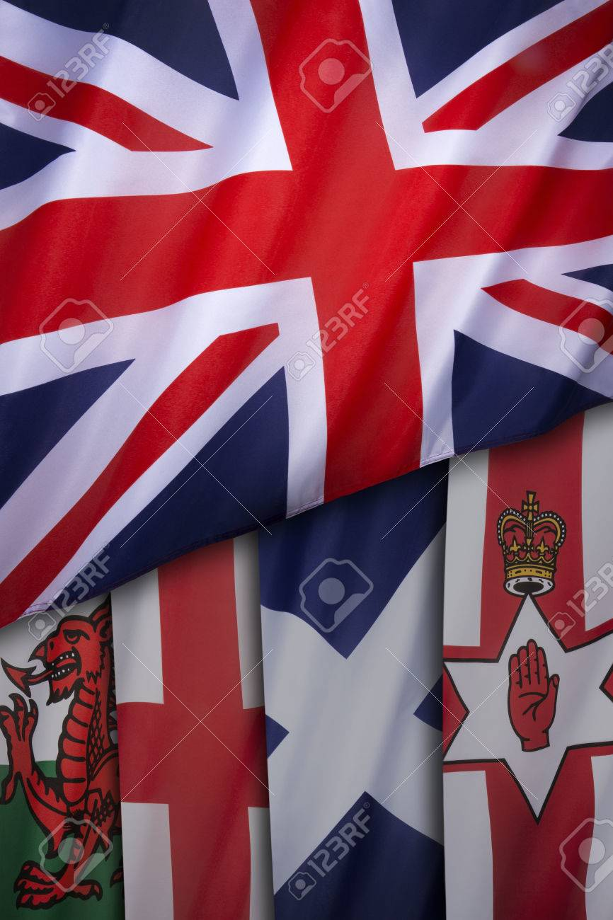 flags of the united kingdom of great britain the union flag