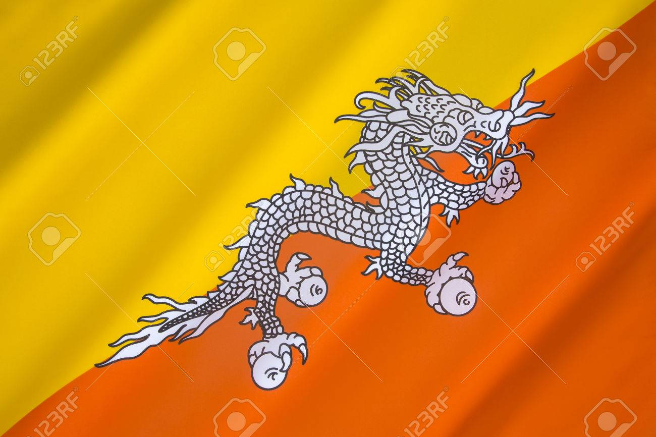 The national flag of bhutan one of the national symbols of the national flag of bhutan one of the national symbols of bhutan the flag biocorpaavc Image collections