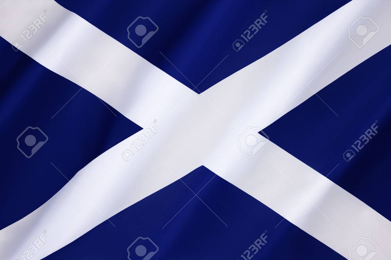 Awesome Flag Of Scotland   Also Known As Saint Andrews Cross Or The Saltire, Is The