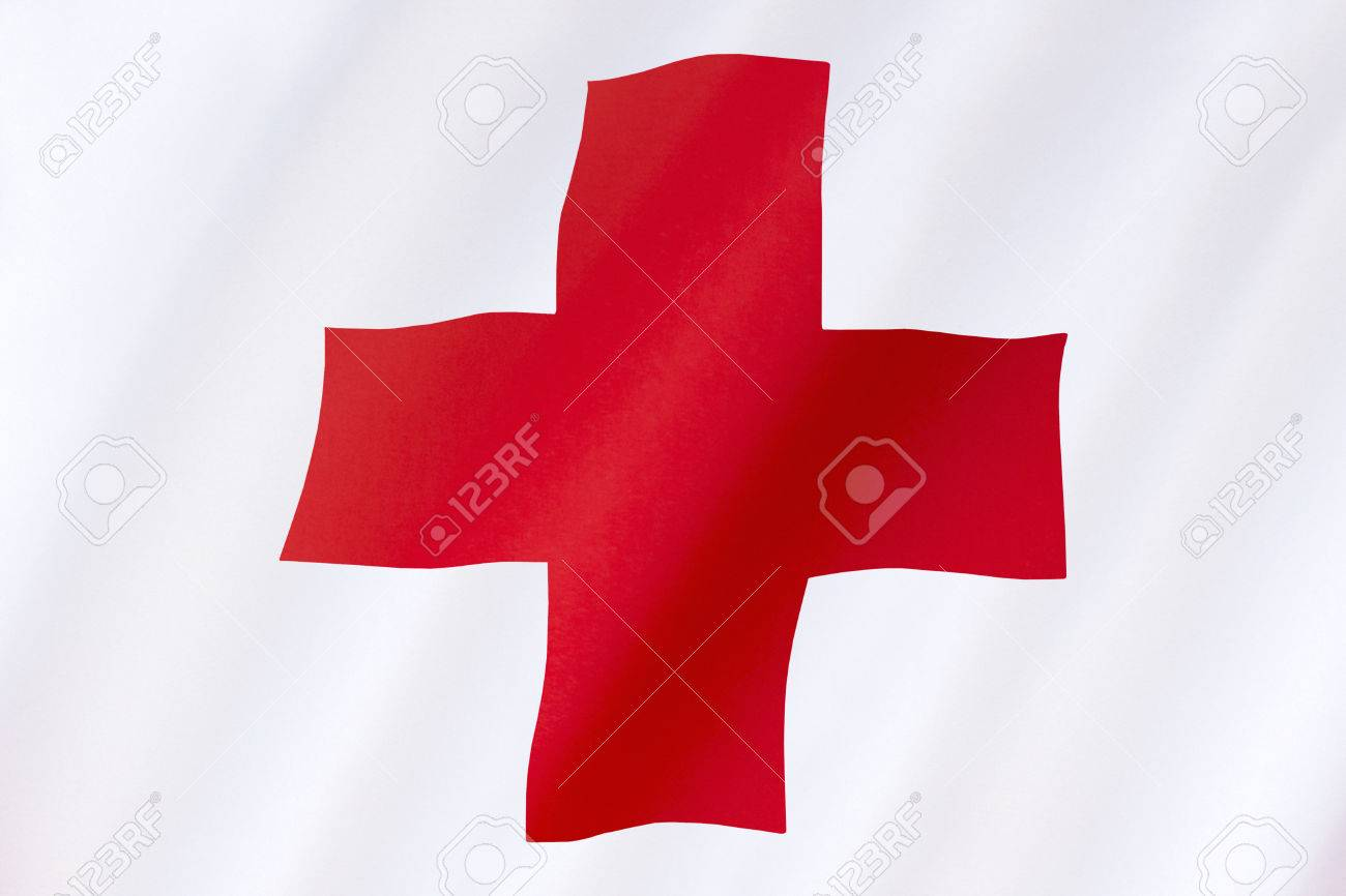 Flag of the Red Cross - the International Movement of the Red Cross and the Red Crescent, are international humanitarian organizations bringing relief to victims of war or natural disaster. The Red Cross was set up in 1864. - 35944730