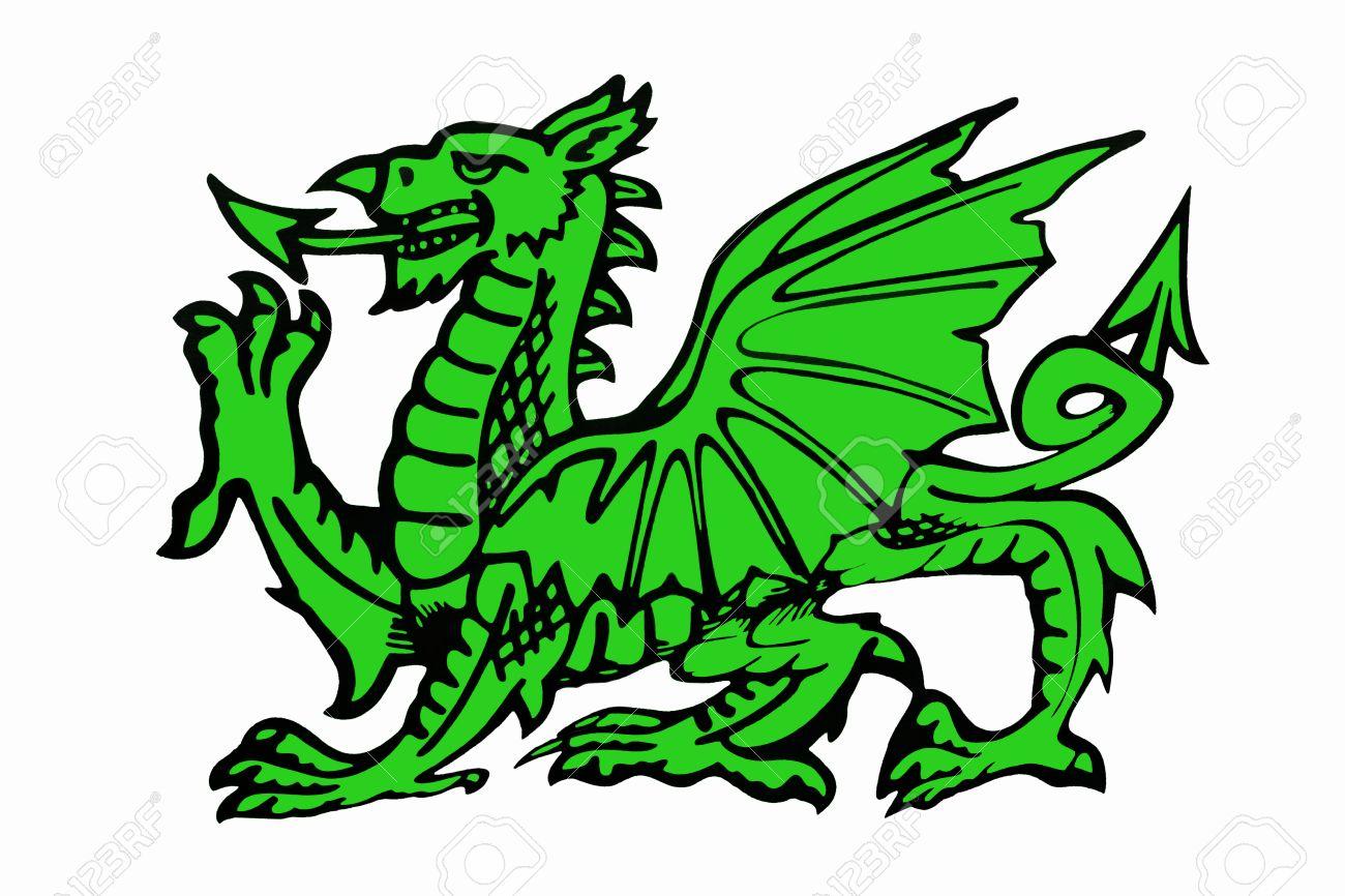 El Dragón Verde De Gales - El Dragón Galés Aparece En La Bandera ...