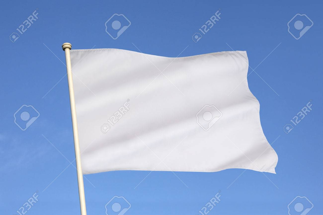 The white flag is an internationally recognized symbol of surrender, truce, or a desire to parley. - 38575061