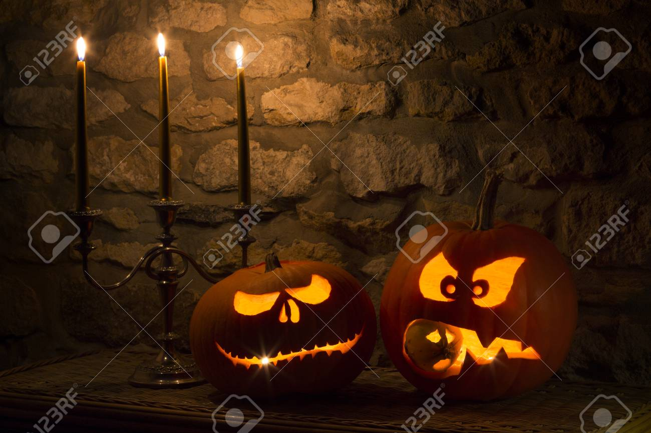 spooky halloween pumpkins the night of 31st october the eve of all saints day