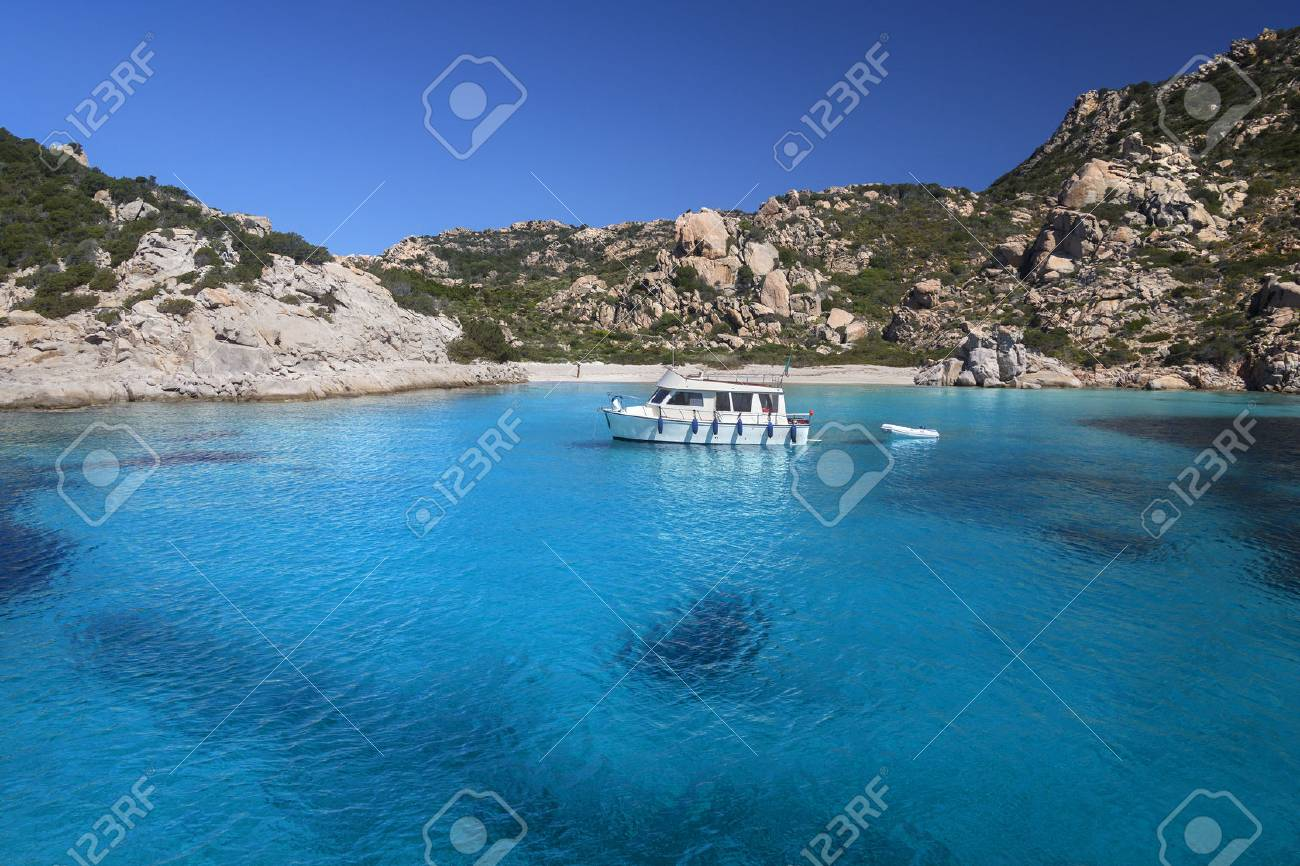 The Maddalena Archipelago - a group of islands in the Straits of Bonifacio between Corsica (France) and north-eastern Sardinia (Italy). It consists of seven main islands and numerous other small islets.The area is part of the Arcipelago di La Maddalena Na - 81604775