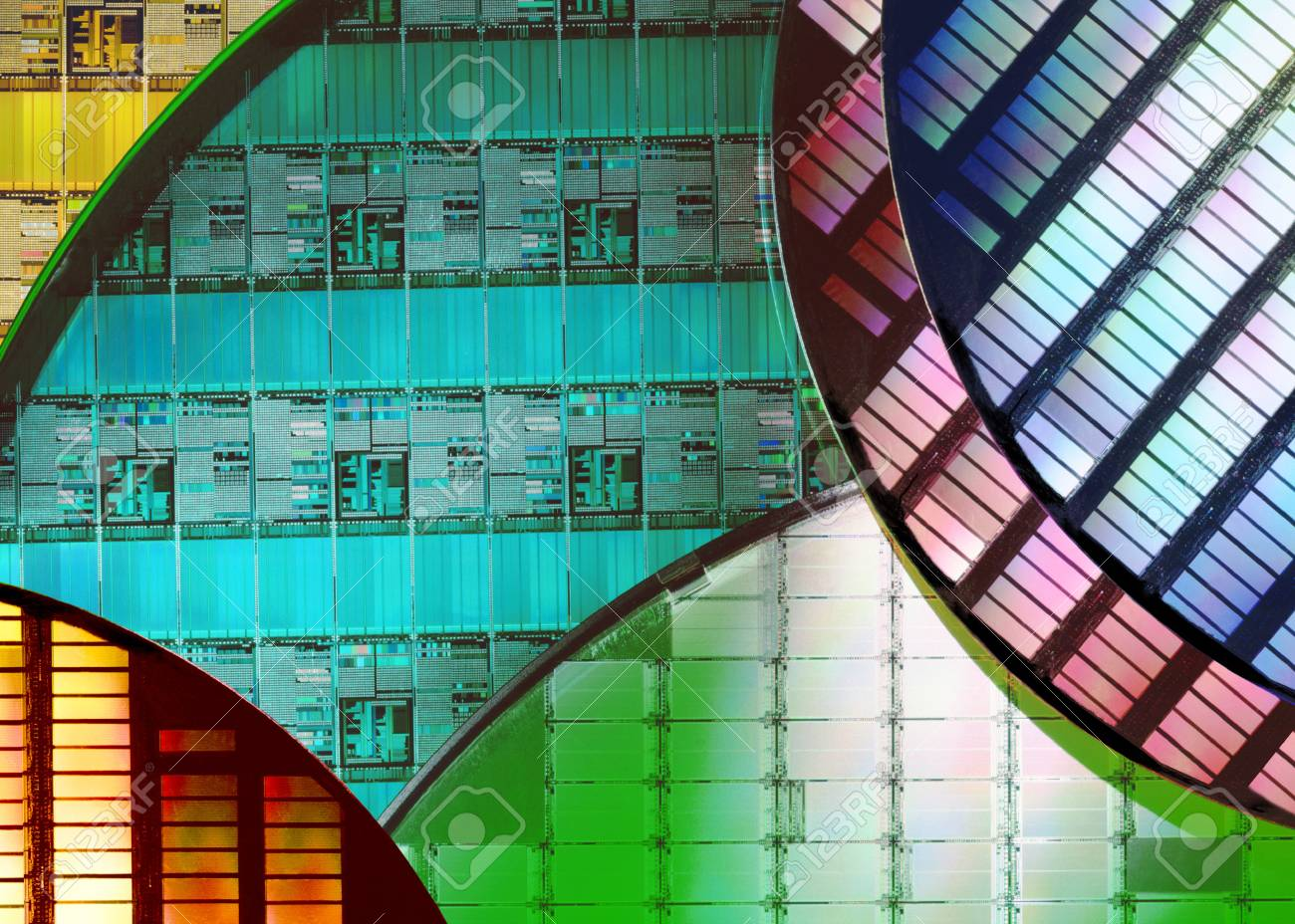 Silicon Wafers And Microcircuits A Wafer Is Thin Slice Of Where Integrated Circuits Are Used Semiconductor Material Such