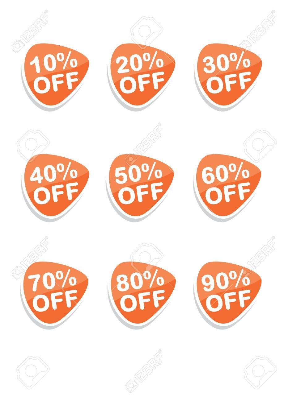 Set of 9 vector online shopping icons, orange Stock Vector - 9689690