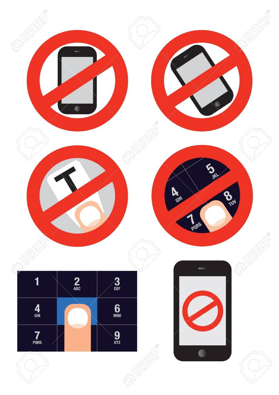 6 vector mobile smartphone signs and icons Stock Vector - 9689696