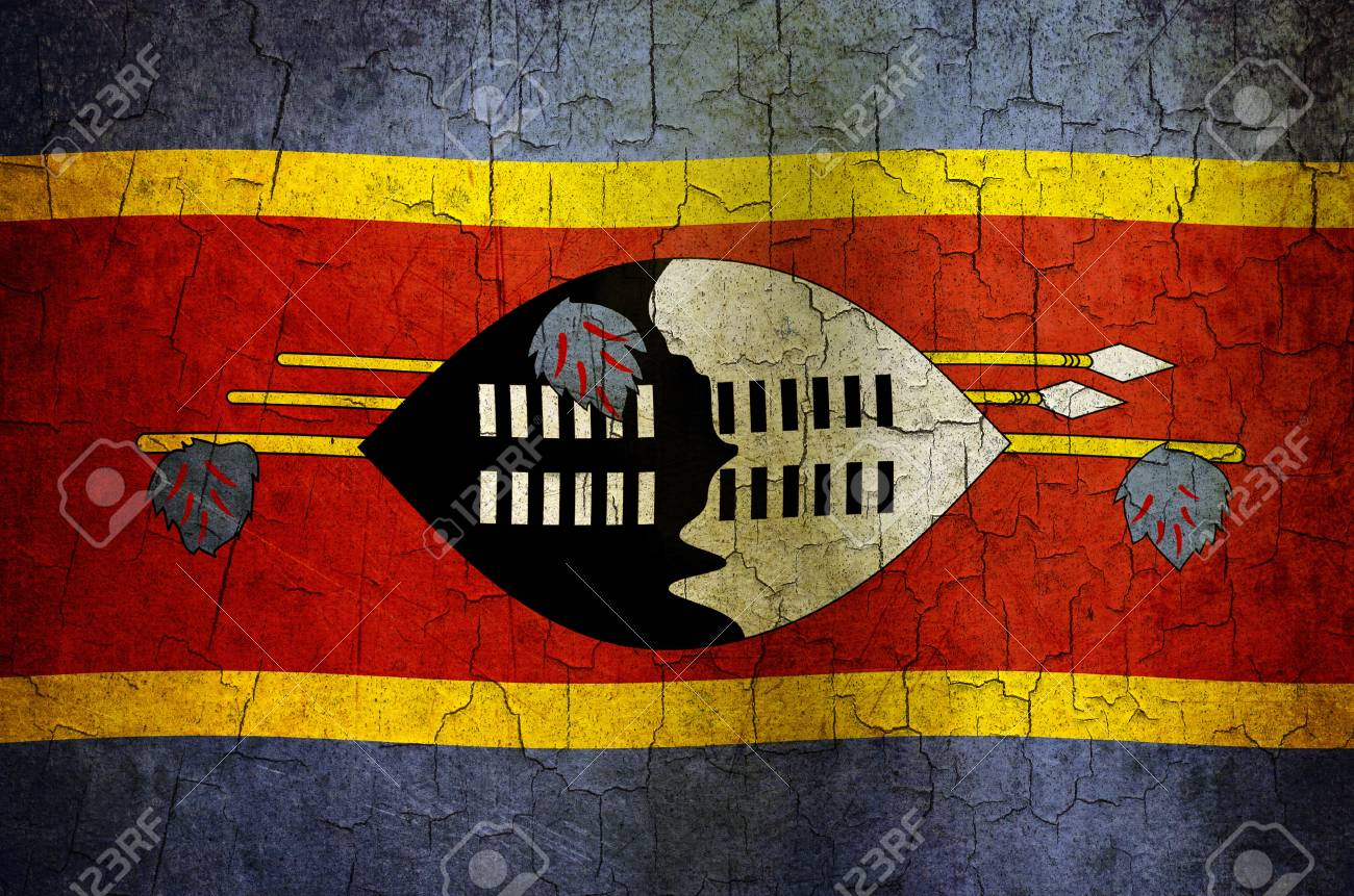 Swaziland flag on a cracked grunge background Stock Photo - 12803010