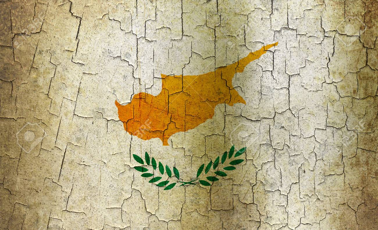 Cyprus flag on a cracked grunge background Stock Photo - 12803023
