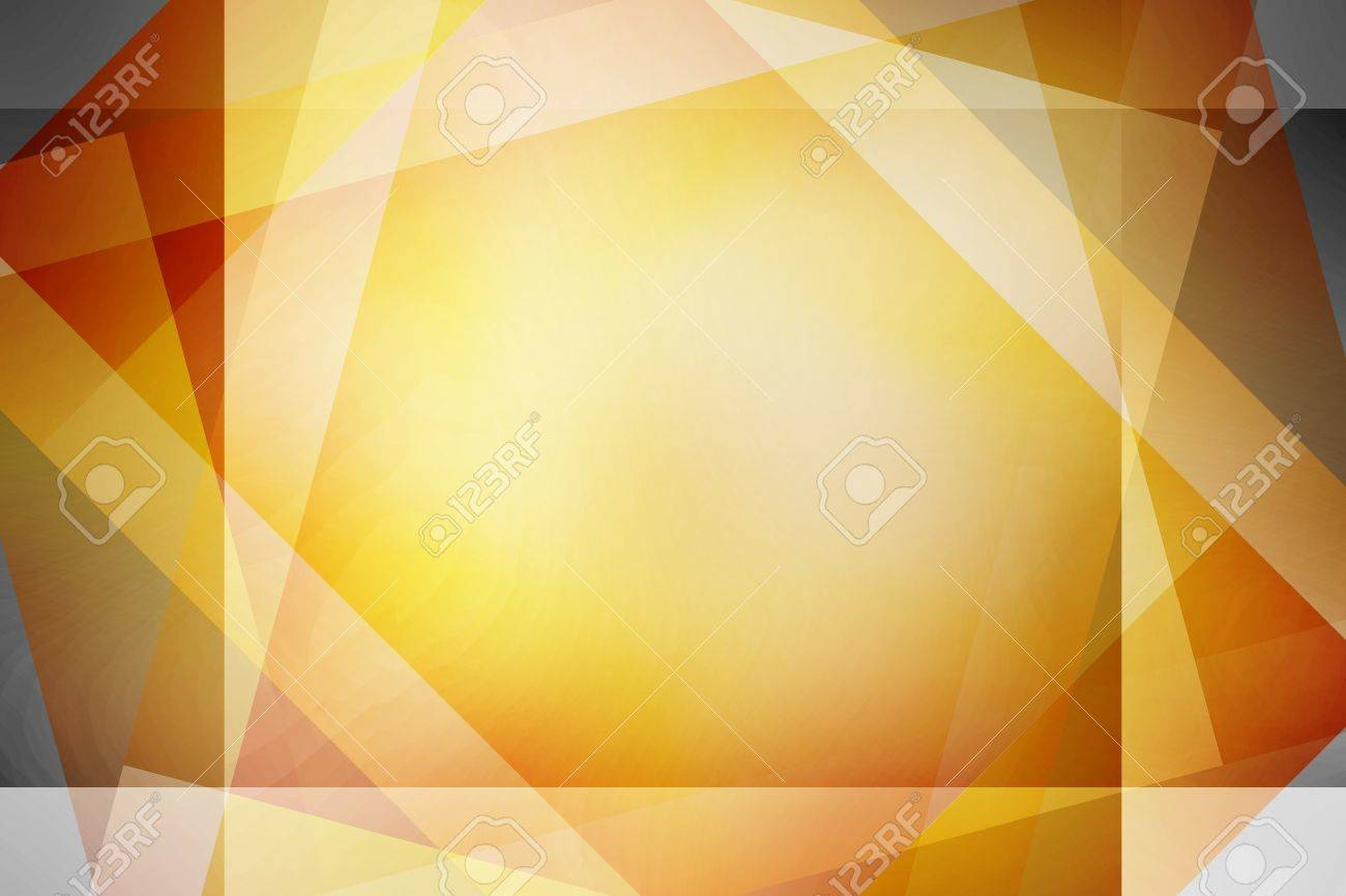 Brown and yellow retro overlapping squares background - 15274540
