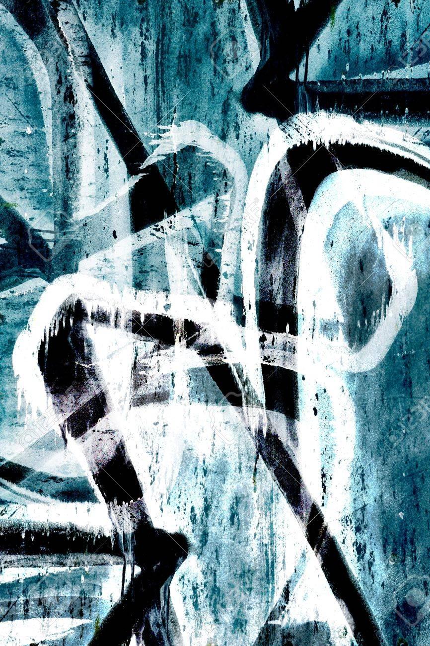 Close up grunge graffiti background - 15801171