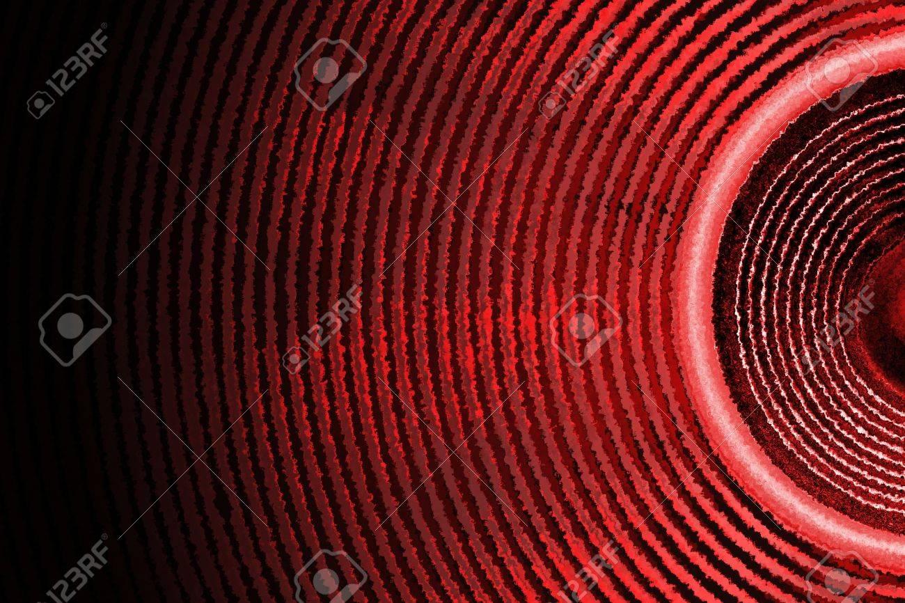 Red audio speaker sound waves background - 15916634