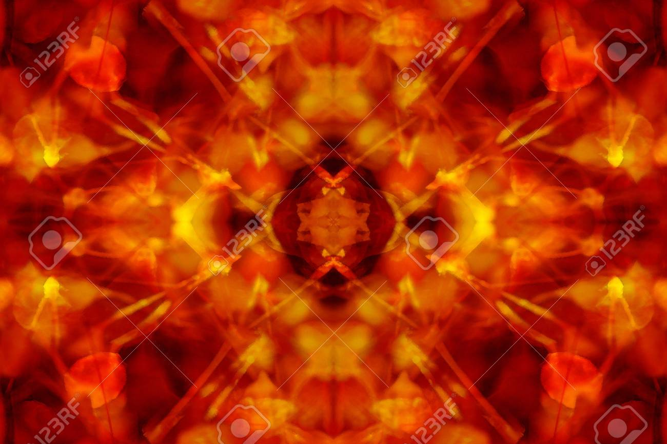 Groovy red and yellow kaleidoscope background Stock Photo - 19495334