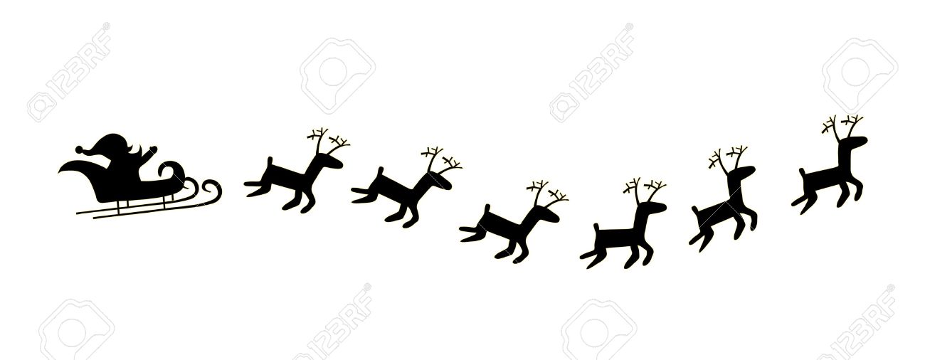 black santa and deer royalty free cliparts vectors and stock
