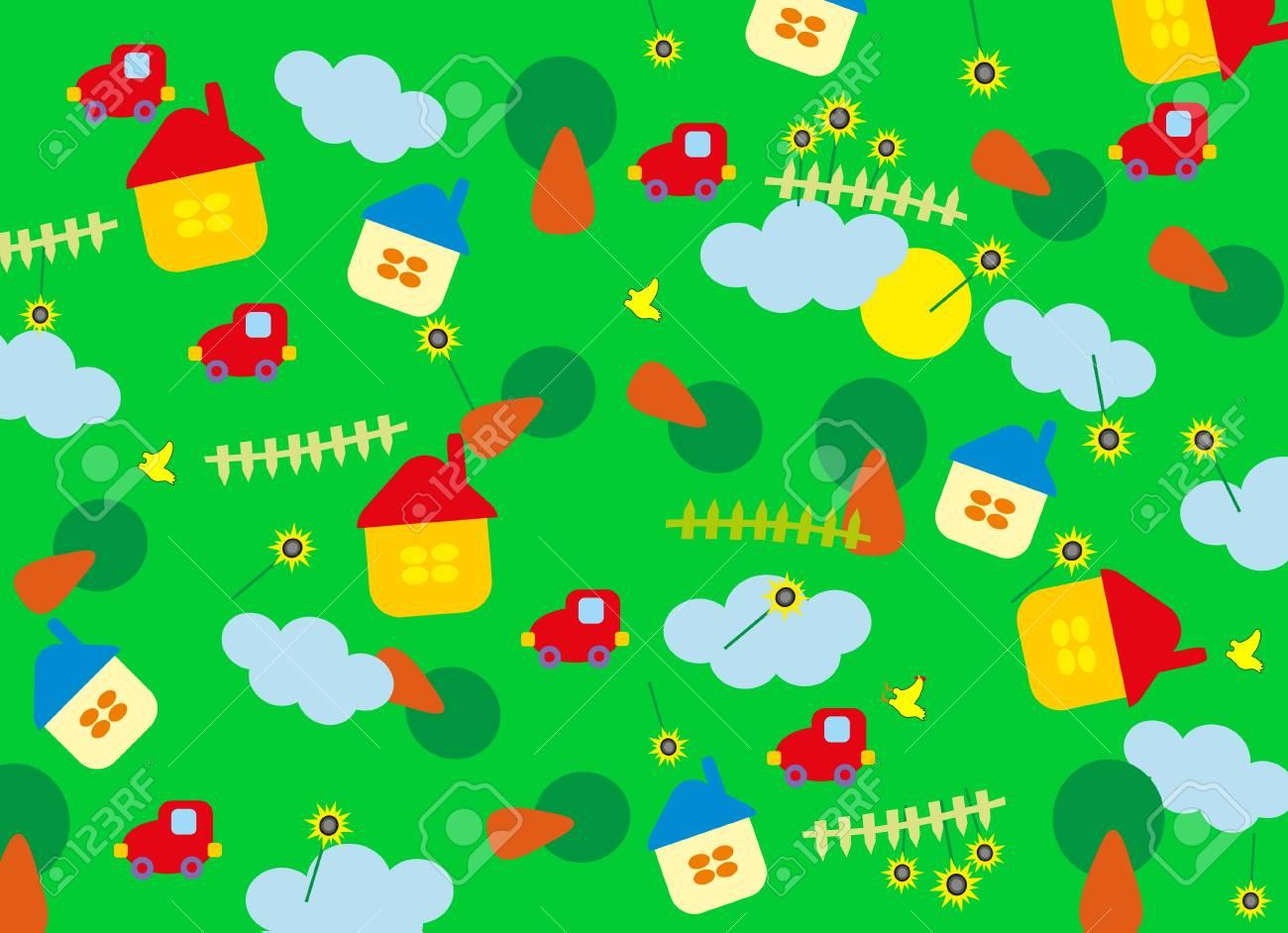 green baby background Stock Vector - 8376961