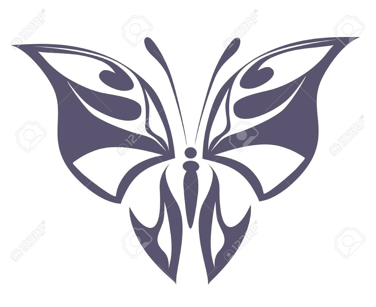 abstract tattoo - a magic butterfly Stock Vector - 8342349
