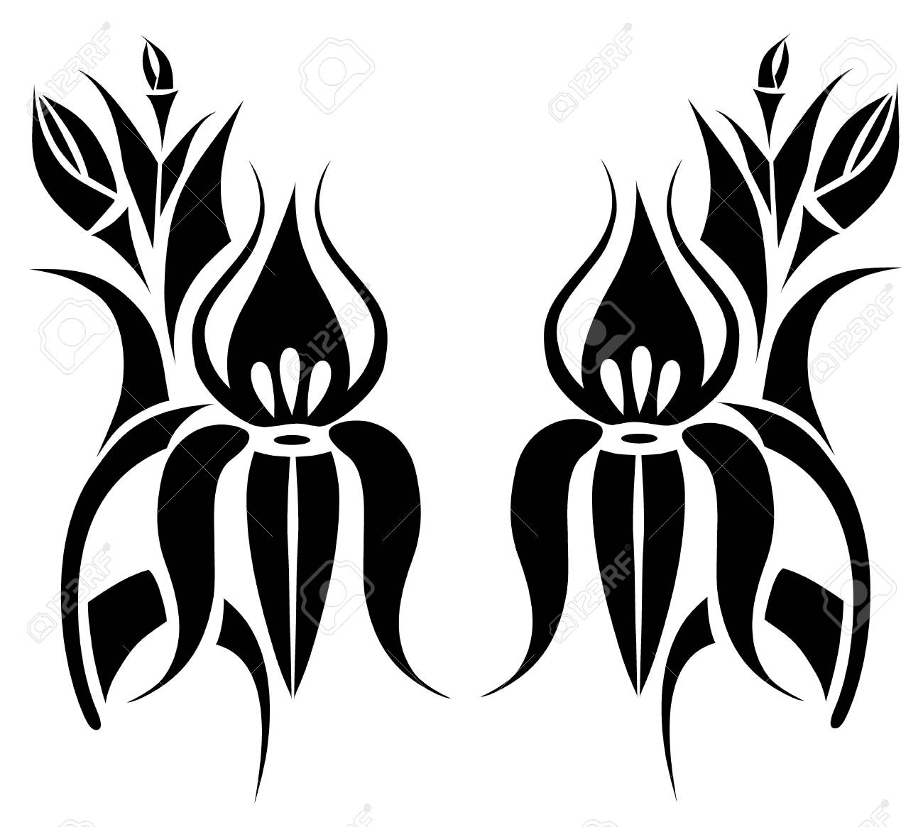 tattoo flower on background Stock Vector - 8420724