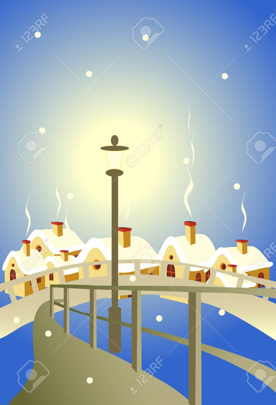 torch on background of the city Stock Vector - 8542723