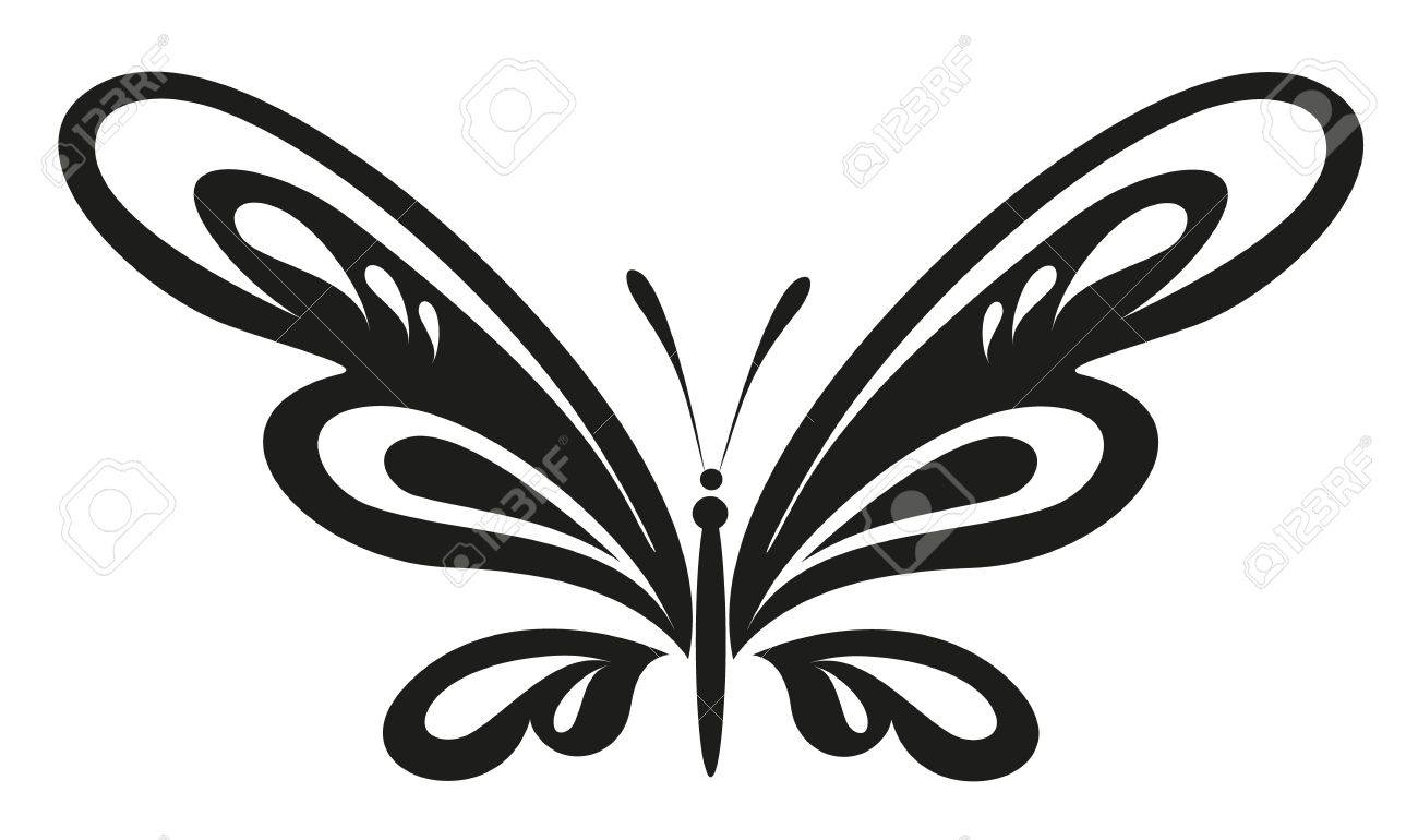 b2c241092 Vector Tattoo - Black Butterfly Royalty Free Cliparts, Vectors, And ...