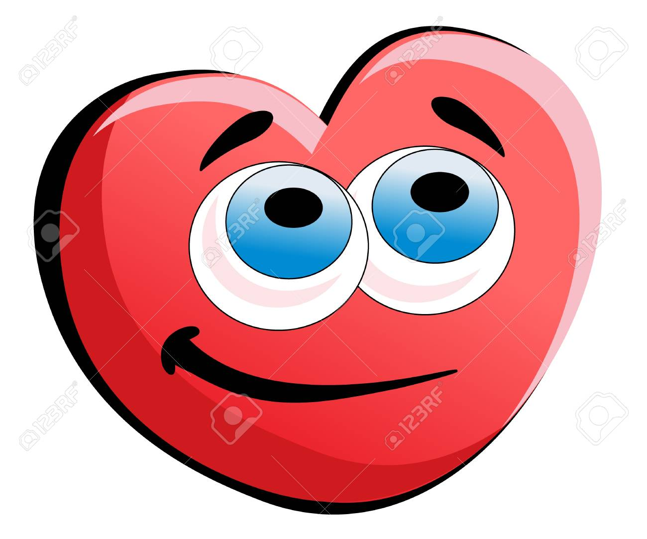 smile valentines heart isolated Stock Vector - 8566628