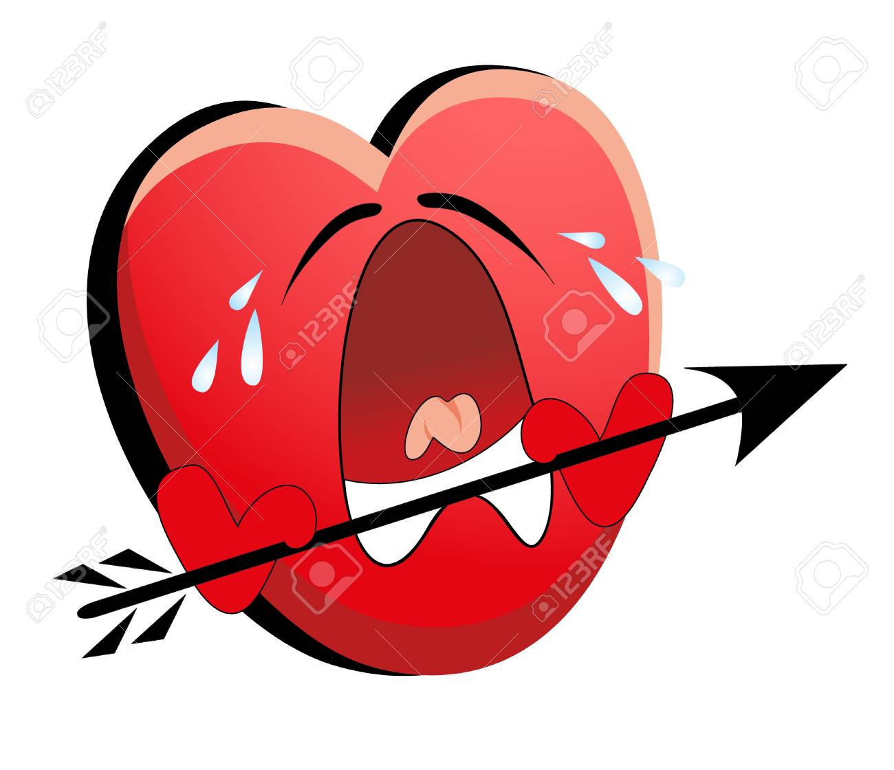 smile valentines heart isolated Stock Vector - 8566630