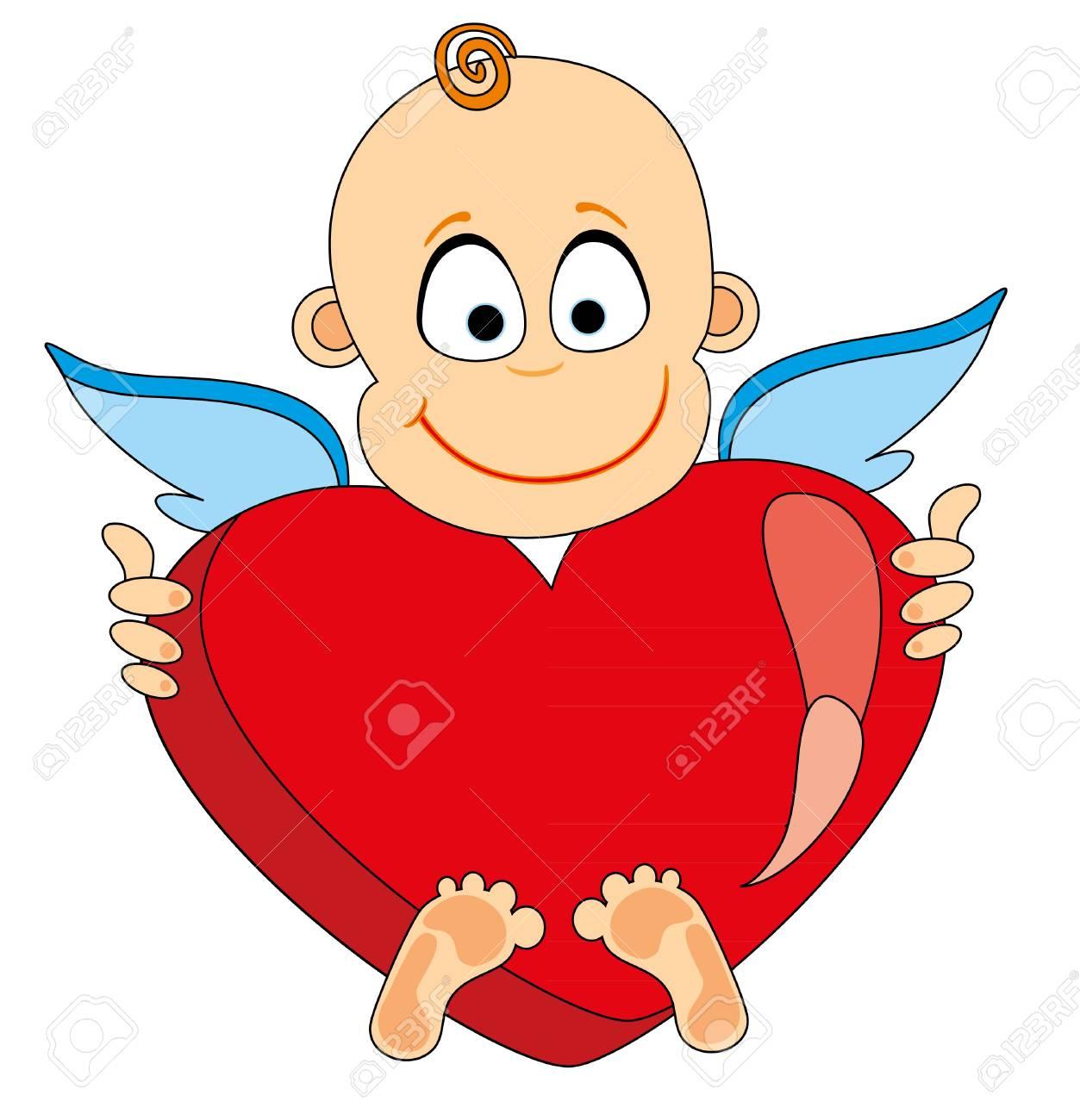 Angel take heart. Stock Vector - 8628951