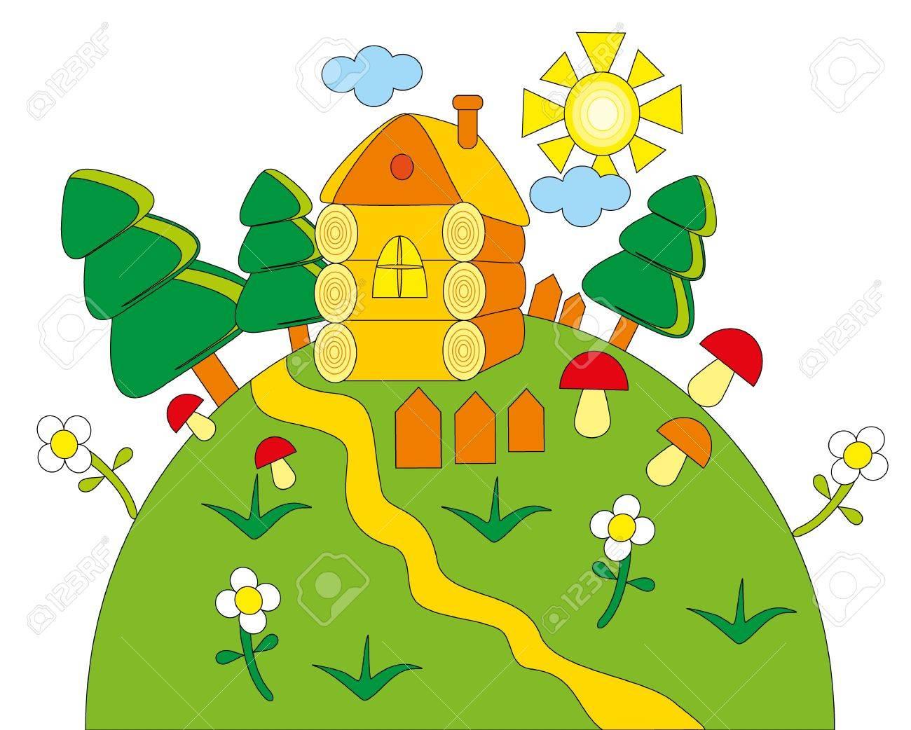 illustration.Green planet. Stock Vector - 8628977
