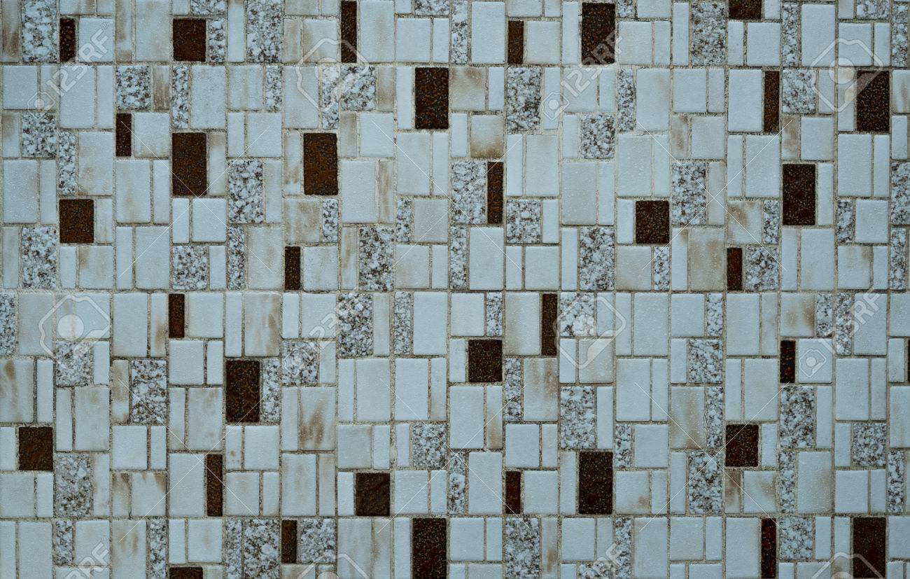 Nostalgic Mosaic Tiles From The Seventies Stock Photo, Picture And ...