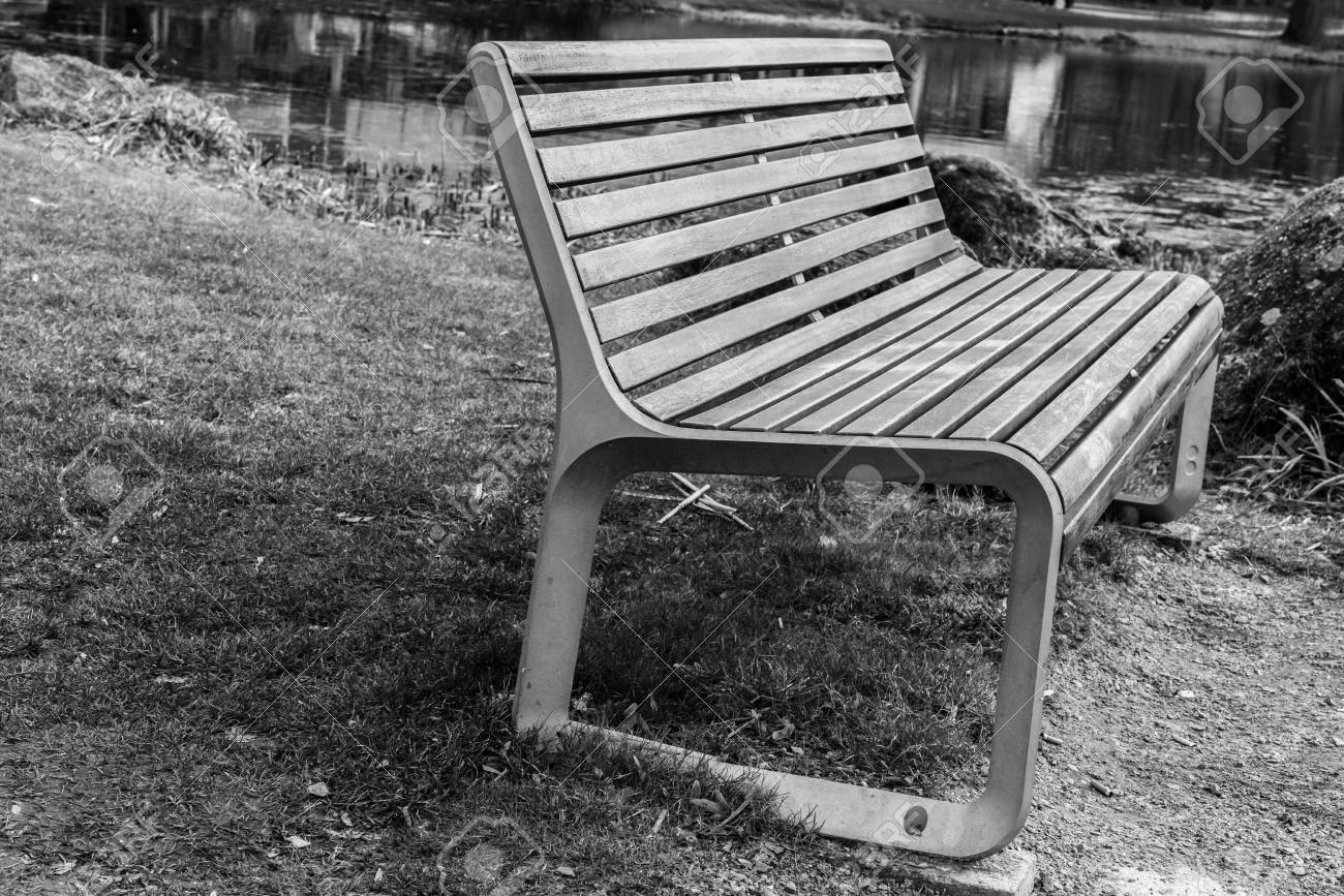 Close Up Of A Park Bench In A Public Park Stock Photo Picture And
