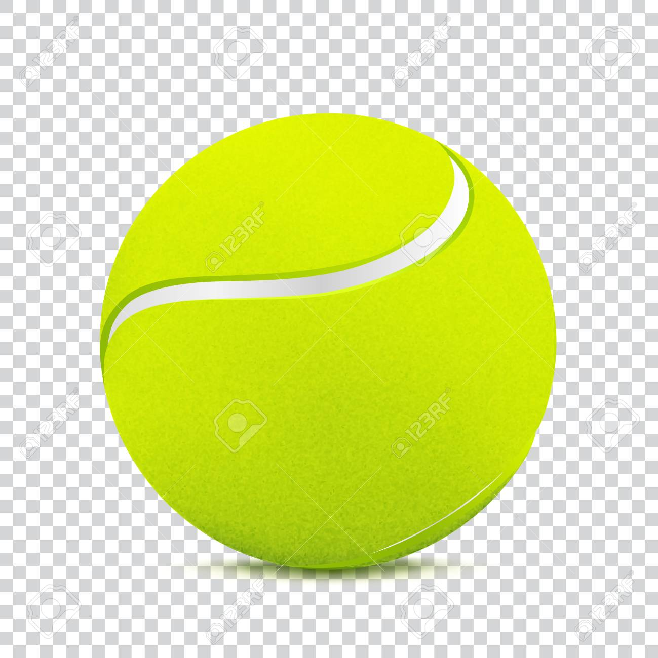 tennis ball on transparent background royalty free cliparts vectors rh 123rf com tennis ball vector free download tennis ball vector art