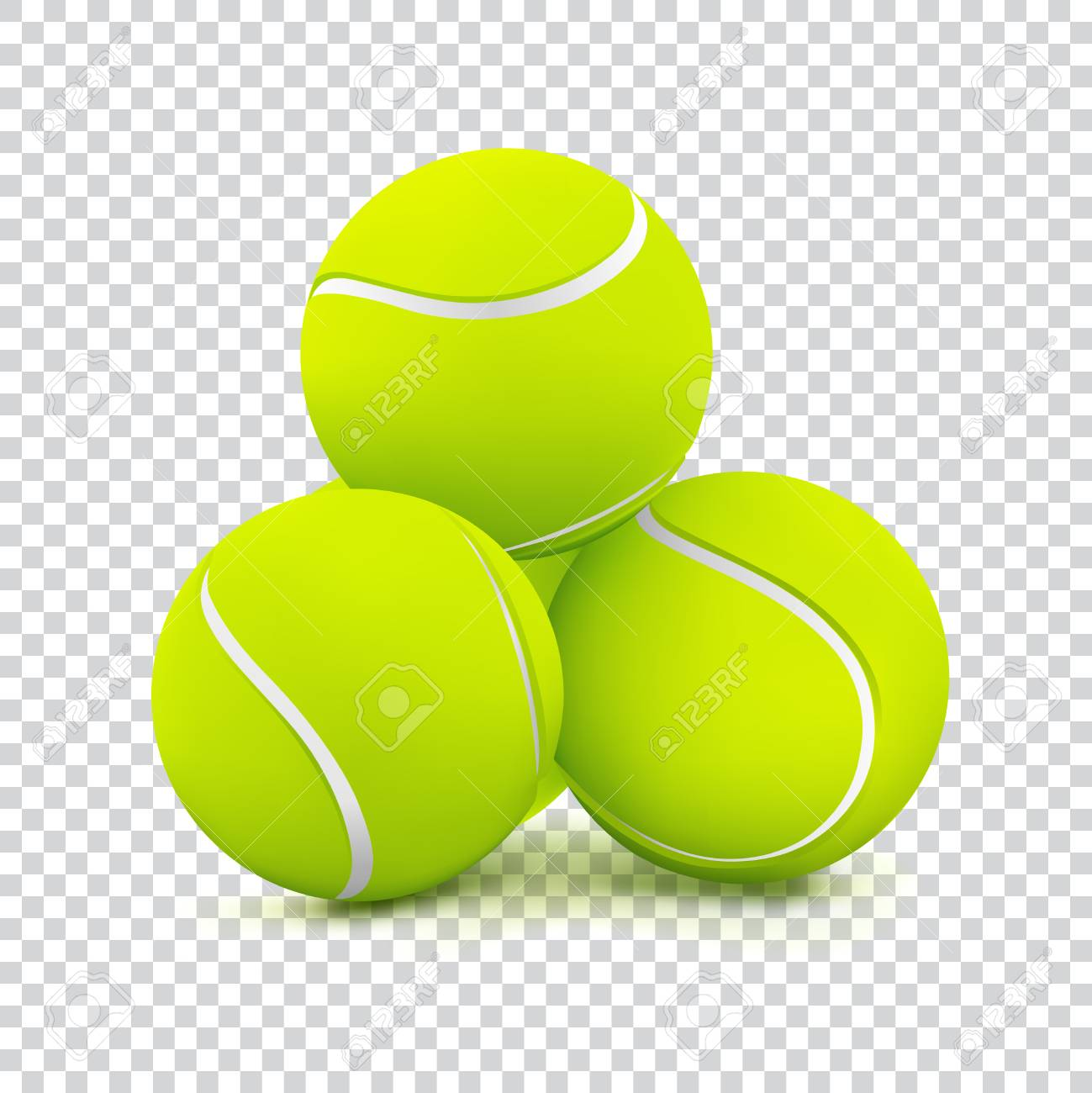 Tennis Balls On Transparent Background Royalty Free Cliparts Vectors And Stock Illustration Image 87271440