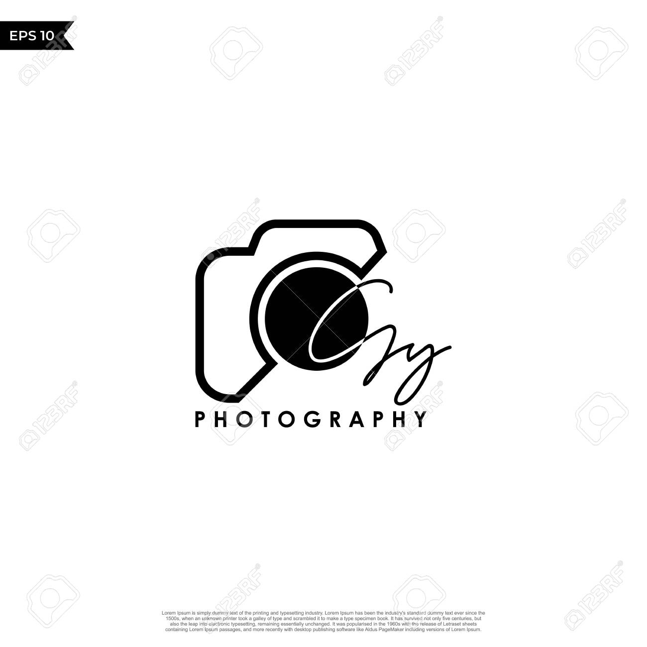 Initial Letter GY with camera. - 144116477