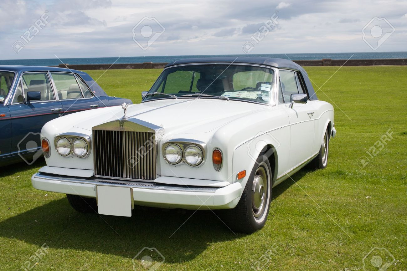 Luxury English Rolls Royce Classic Car Stock Photo Picture And