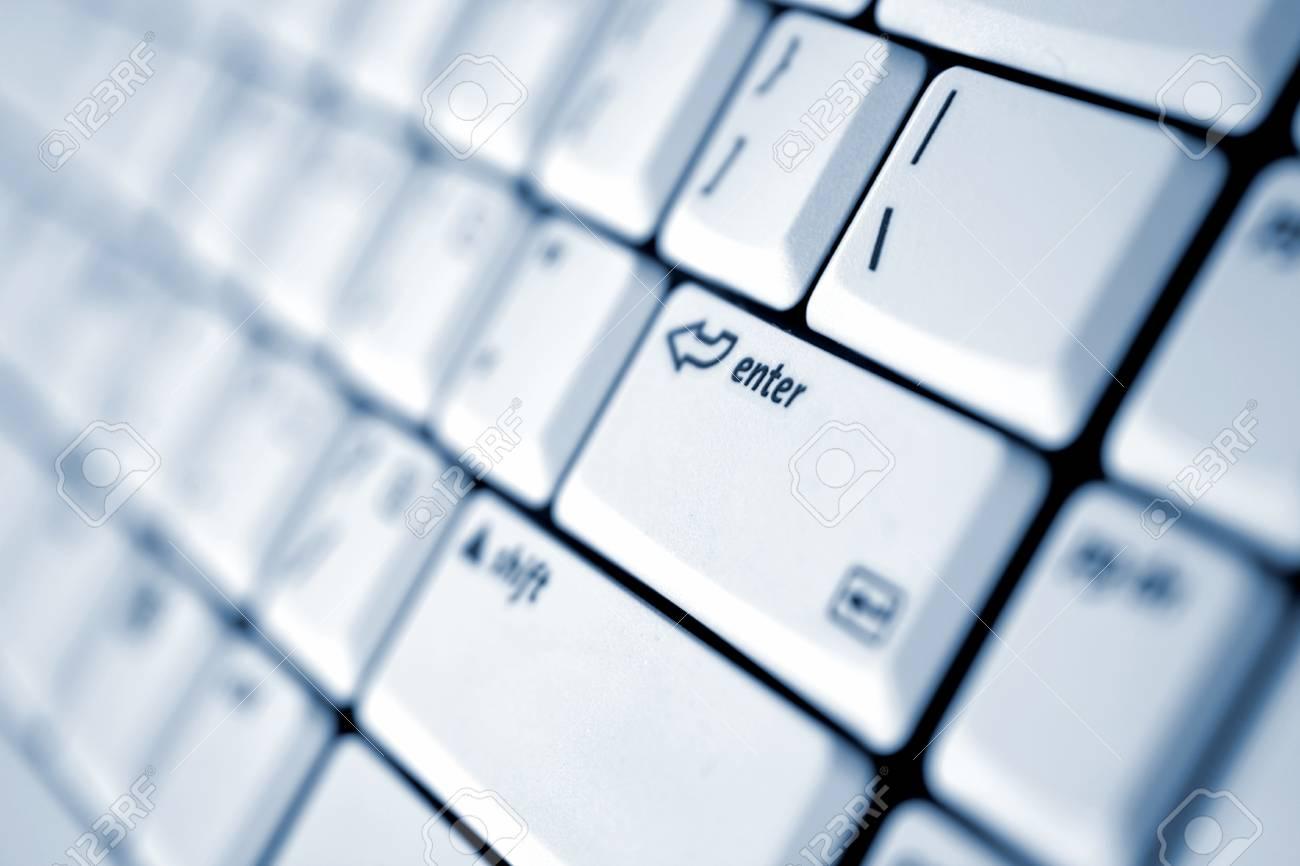 Enter key on keypad Stock Photo - 1574762