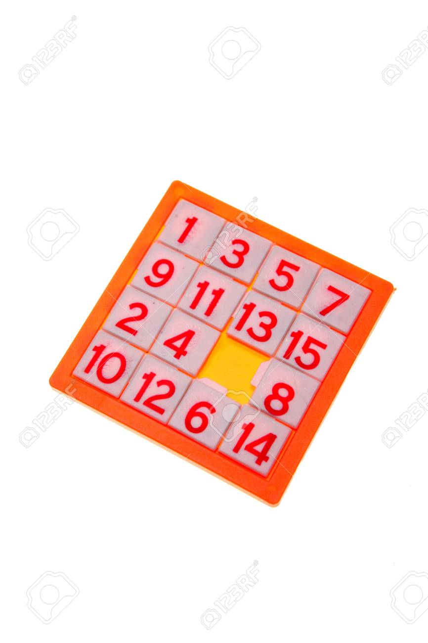 Numbers puzzle isolated over white Stock Photo - 2292706