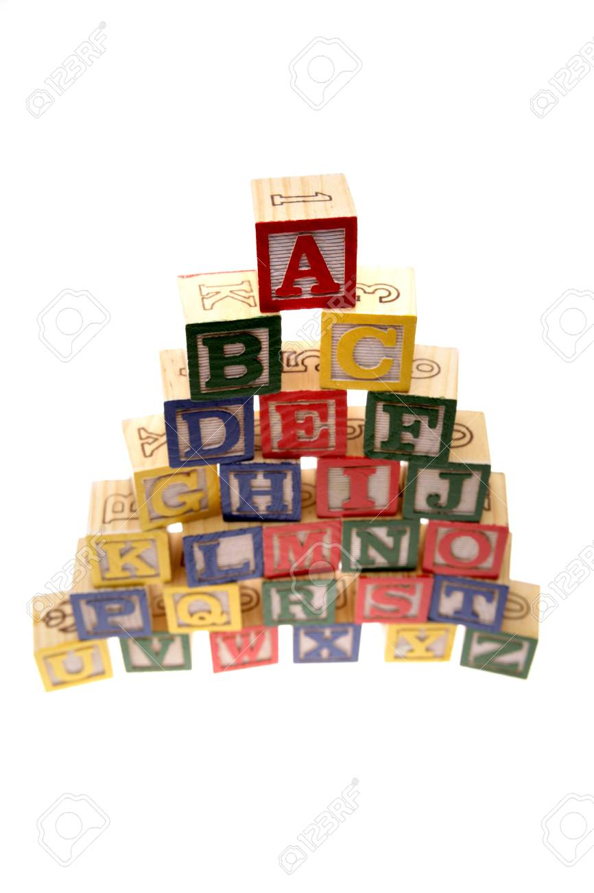 Alphabet learning blocks isolated over white Stock Photo - 2334361