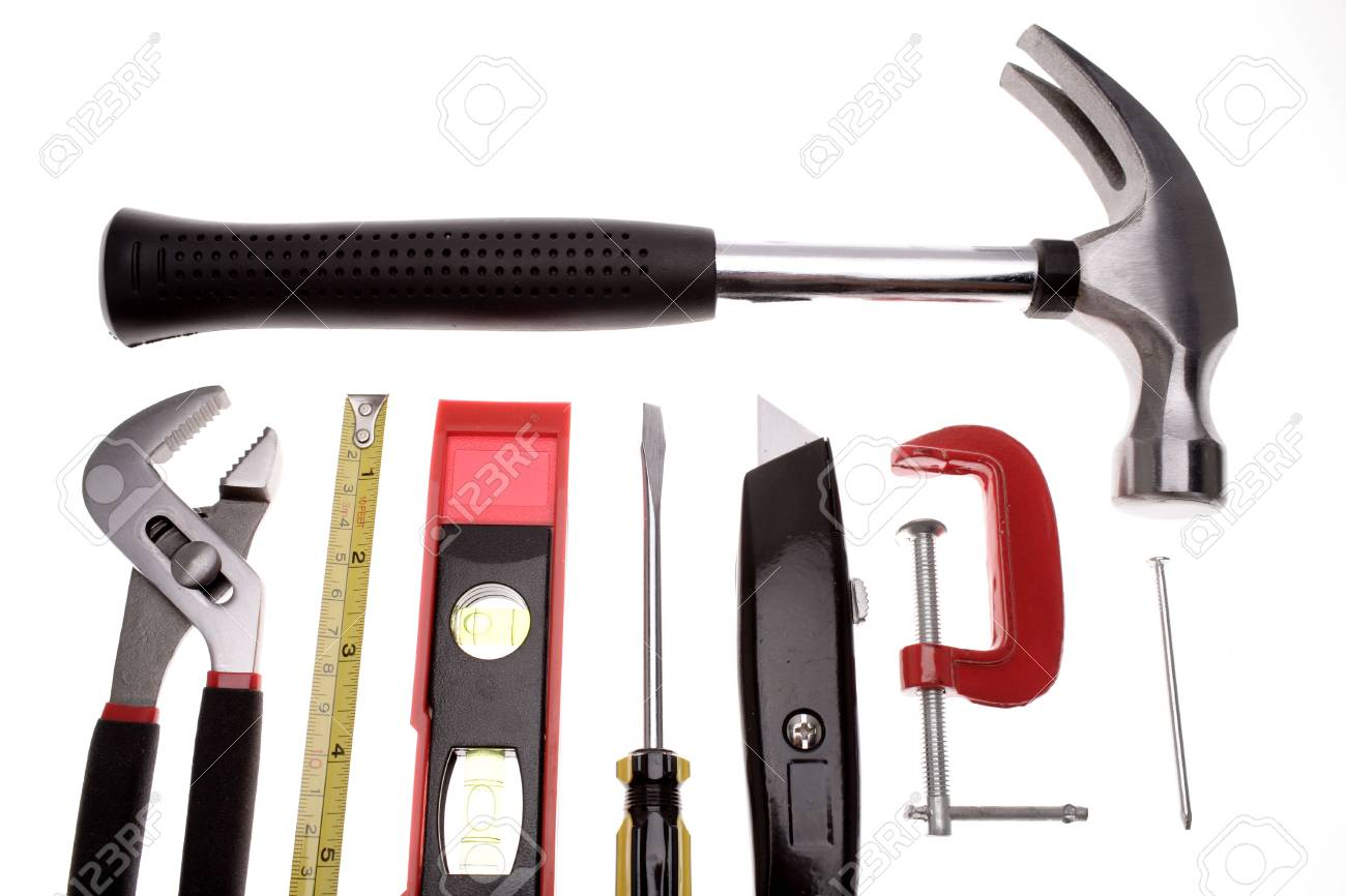 Tools over white Stock Photo - 2349153