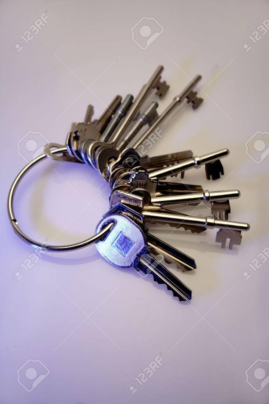Bunch of keys on keyring Stock Photo - 2650940