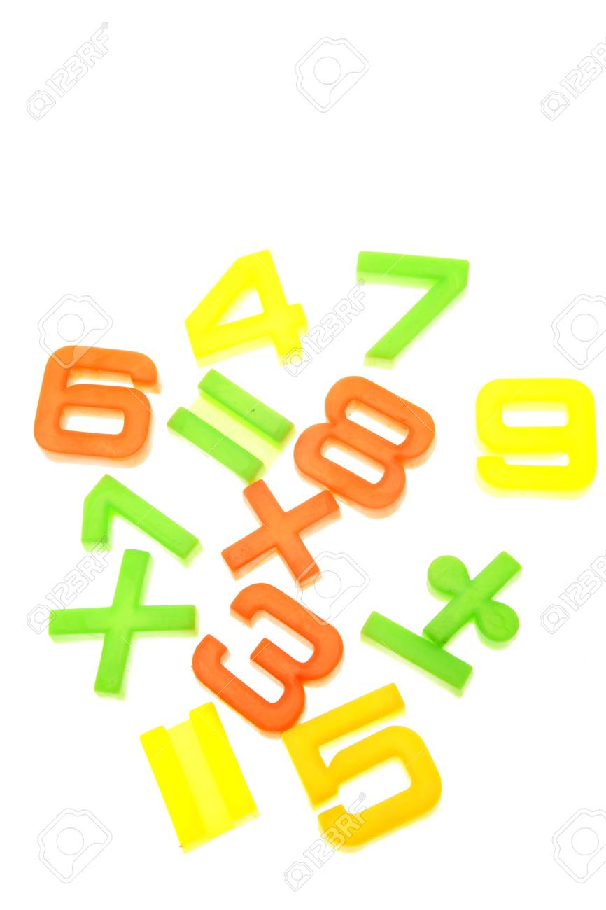 Mathematical numbers and symbols over white Stock Photo - 2908108
