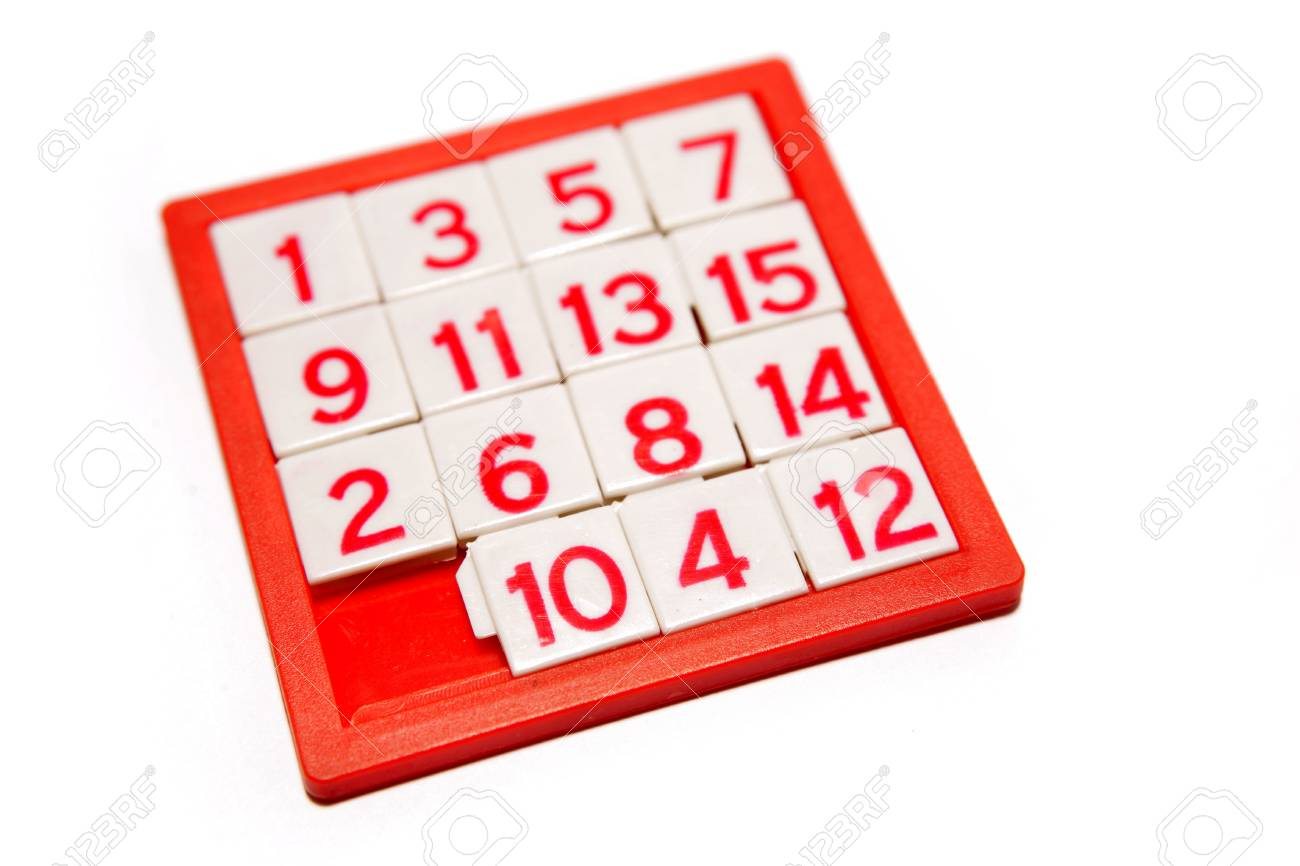 Numbers puzzle isolated over white Stock Photo - 3101187