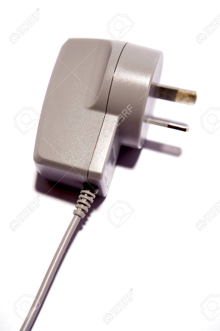 Plug and cable on white Stock Photo - 3180676